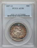 Seated Half Dollars: , 1857-O 50C AU50 PCGS. PCGS Population (14/41). NGC Census: (3/35).Mintage: 818,000. Numismedia Wsl. Price for problem free...
