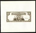 Large Size:Demand Notes, Hessler 187 Fr. 249 $2 1899 Silver Certificate Face Proof New.. ...