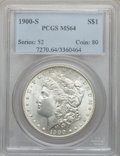 Morgan Dollars: , 1900-S $1 MS64 PCGS. PCGS Population (1569/601). NGC Census:(882/215). Mintage: 3,540,000. Numismedia Wsl. Price for probl...