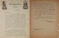 "Autographs:Authors, Joyce Kilmer. Typed Letter Signed, ""Joyce Kilmer,"" two pages, 8.5 x 11 inches, May 11, 1916, New York Times letterhead, to E..."