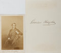 Autographs:Authors, Charles Kingsley. Signed Page with Original CDV. The signed page,which is Chersley Rectory stationery, measures 3.5 x 5 inc...