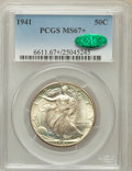 Walking Liberty Half Dollars, 1941 50C MS67+ PCGS. CAC....