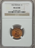 Indian Cents: , 1864 1C Bronze No L MS65 Red and Brown NGC. NGC Census: (239/73).PCGS Population (199/24). Mintage: 39,233,712. Numismedia...