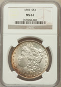 Morgan Dollars: , 1893 $1 MS61 NGC. NGC Census: (181/1851). PCGS Population(198/3351). Mintage: 389,792. Numismedia Wsl. Price for problemf...