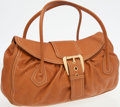 Luxury Accessories:Bags, Celine Light Brown Leather Large Shoulder Bag with Gold Buckle. ...