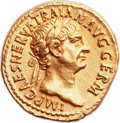 Ancients:Roman Imperial, Ancients: Trajan (AD 98-117). AV aureus (19mm, 7.55 gm, 6h). ...