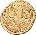 Ancients:Byzantine, Ancients: Constantine VI and Irene (AD 780-797). AV solidus(19.5mm, 4.40 gm, 6h). ...