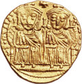 Ancients:Byzantine, Ancients: Leo IV, the Khazar (AD 775-780)., with Constantine VI. AVsolidus (21mm, 4.44 gm, 6h). ...
