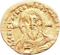 Ancients:Byzantine, Ancients: Justinian II, First Reign (AD 685-695). AV semissis(16.5mm, 2.07 g, 7h). ...