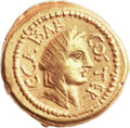Ancients:Roman Republic, Ancients: Julius Caesar as Dictator (49-44 BC). AV aureus (21mm, 8.04 gm, 12h). ...