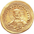 Ancients:Byzantine, Ancients: Basil II (AD 976-1025) with Constantine VIII. AVhistamenon nomisma (26mm, 4.42 g, 6h). ...
