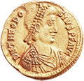 Ancients:Roman Imperial, Ancients: Theodosius II (AD 402-450). AV solidus (21mm, 4.46 g,7h)....