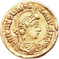 Ancients:Roman Imperial, Ancients: WEST ROMAN EMPIRE. Majorian (AD 457-461). AV tremissis (14mm, 1.43 gm, 11h). ...