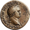 Ancients:Roman Imperial, Ancients: Titus as Caesar (AD 69-79). Orichalcum sestertius (33mm,21.66 gm, 1h)....
