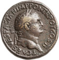 Ancients:Roman Imperial, Ancients: Titus as Caesar (AD 69-79). Orichalcum sestertius (32mm,26.78 gm, 6h). ...