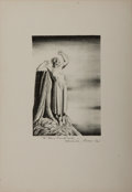 """Autographs:Artists, Rockwell Kent. Inscribed Engraving. Black-and-white engraving on thin art board. Inscribed and signed by Kent, """"To Dawn Ma..."""