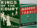 Books:Sporting Books, [Tennis]. Two Twentieth Century Works on Tennis. Publisher'sbindings and dust jackets. Ink ownership inscriptions. Both ver...(Total: 2 Items)