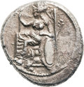 Ancients:Greek, Ancients: Tarsus. Tiribazos as Satrap. Ca. 393-380 BC. AR Stater (25mm, 10.31 gm, 1h). ...