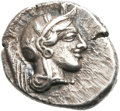 Ancients:Greek, Ancients: Athens. Ca. 454-414 BC. AR drachm (17mm, 4.27 gm,10h).  ...