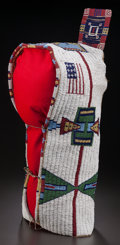 American Indian Art:Beadwork and Quillwork, A SIOUX BEADED HIDE BABY CARRIER. c. 1890...