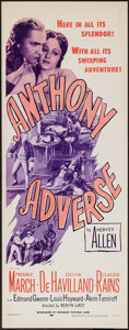 """Movie Posters:Adventure, Anthony Adverse (Dominant Pictures, R-1956). Insert (14"""" X 36"""").Adventure.. ..."""