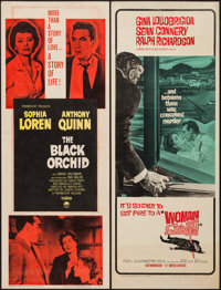 "The Black Orchid and Other Lot (Paramount, 1958). Inserts (2) (14"" X 36""). Romance. ... (Total: 2 Items)"