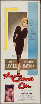 "The Come On (Allied Artists, 1956). Insert (14"" X 36""). Film Noir"