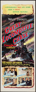 "Movie Posters:Action, The Great Locomotive Chase (Buena Vista, 1956). Insert (14"" X 36""). Action.. ..."