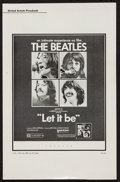"""Movie Posters:Rock and Roll, Let It Be (United Artists, 1970). Uncut Pressbook (Multiple Pages,11"""" X 17""""). Rock and Roll.. ..."""