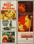 """Movie Posters:War, The Proud and Profane and Other Lot (Paramount, 1956). Inserts (2)(14"""" X 36""""). War.. ... (Total: 2 Items)"""