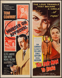 """Murder on Approval and Other Lot (RKO, 1956). Inserts (2) (14"""" X 36""""). Mystery. ... (Total: 2 Items)"""