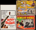 "Movie Posters:Crime, Blast of Silence & Others Lot (Universal, 1961). Window Card (14"" X 22"") & Lobby Cards (2) (12.5"" X 16.25"", 13"" X 17""). Crim... (Total: 3 Item)"