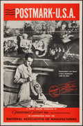 "Movie Posters:Documentary, Postmark U.S.A. (Paramount, 1943). One Sheet (27"" X 41""). Documentary.. ..."
