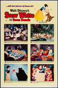"""Movie Posters:Animation, Snow White and the Seven Dwarfs (Buena Vista, R-1967). One Sheet (27"""" X 41"""") Style B. Animation.. ..."""