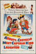 "Movie Posters:Comedy, Abbott and Costello Meet Captain Kidd (Warner Brothers, 1953). One Sheet (27"" X 41""). Comedy.. ..."