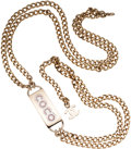 Luxury Accessories:Accessories, Chanel Gold Chain Belt with Pink Rhinestone Coco Charm. ...