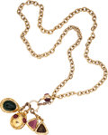 Luxury Accessories:Accessories, Chanel Gold Chain Necklace with Gripoix Charms. ...