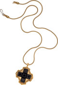 Luxury Accessories:Accessories, Yves Saint Laurent Gold & Black Necklace. ...
