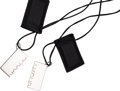 Luxury Accessories:Accessories, Hermes Set of Two; Silver & Leather Friendship Necklaces. ...