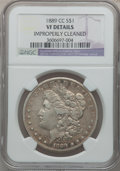 Morgan Dollars: , 1889-CC $1 -- Improperly Cleaned -- NGC Details. Vf Details. NGCCensus: (236/2282). PCGS Population (359/3375). Mintage: 3...