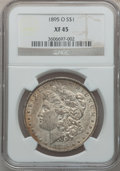 Morgan Dollars: , 1895-O $1 XF45 NGC. NGC Census: (724/2207). PCGS Population(887/1870). Mintage: 450,000. Numismedia Wsl. Price for problem...