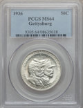 Commemorative Silver: , 1936 50C Gettysburg MS64 PCGS. PCGS Population (1975/2296). NGCCensus: (1196/1618). Mintage: 26,928. Numismedia Wsl. Price...