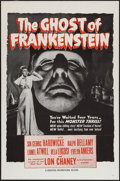 "Movie Posters:Horror, The Ghost of Frankenstein (Universal International, R-1950s). Military One Sheet (27"" X 41""). Horror.. ..."