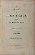 Books:Literature Pre-1900, Lord Byron. The Works of Lord Byron, including the SuppressedPoems. Complete in One Volume. Philadelphia: Grigg...