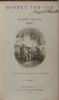 Books:Literature Pre-1900, Charles Dickens. Dombey & Son. Philadelphia: Lea andBlanchard, 1848. Third American edition. With 36 engraved p...
