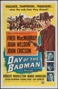 "Movie Posters:Western, Day of the Badman (Universal International, 1958). One Sheet (27"" X 41""). Western.. ..."