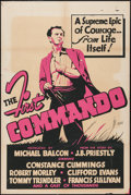 """Movie Posters:War, The First Commando (United Artists, 1942). One Sheet (28"""" X 42"""")AKA The Foreman Went to France. War.. ..."""