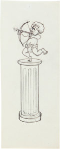 Animation Art:Production Drawing, Fractured Fairy Tales Cupid Animation Production Drawing(Jay Ward, 1960s)....