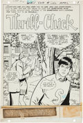 "Original Comic Art:Complete Story, Joe Giella (attributed) Girls' Love Stories #142 Complete10-page Story ""Thrill Chick"" Original Art (DC, 1969)...."
