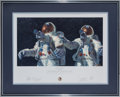 "Explorers:Space Exploration, Alan Bean Large Limited Edition ""Heavenly Reflections"" Framed Lithograph Signed by the Apollo 12 Moonwalkers. ..."